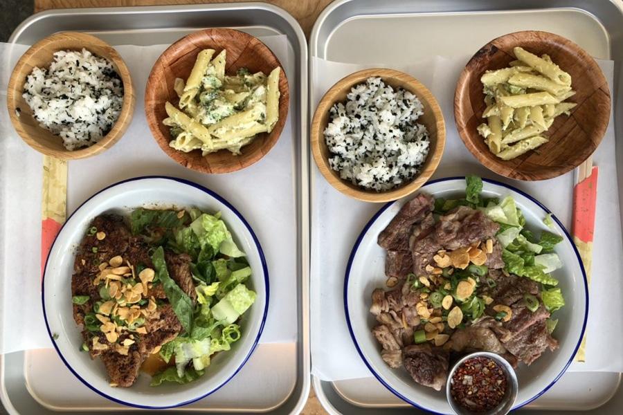 plate lunch katsu and rice