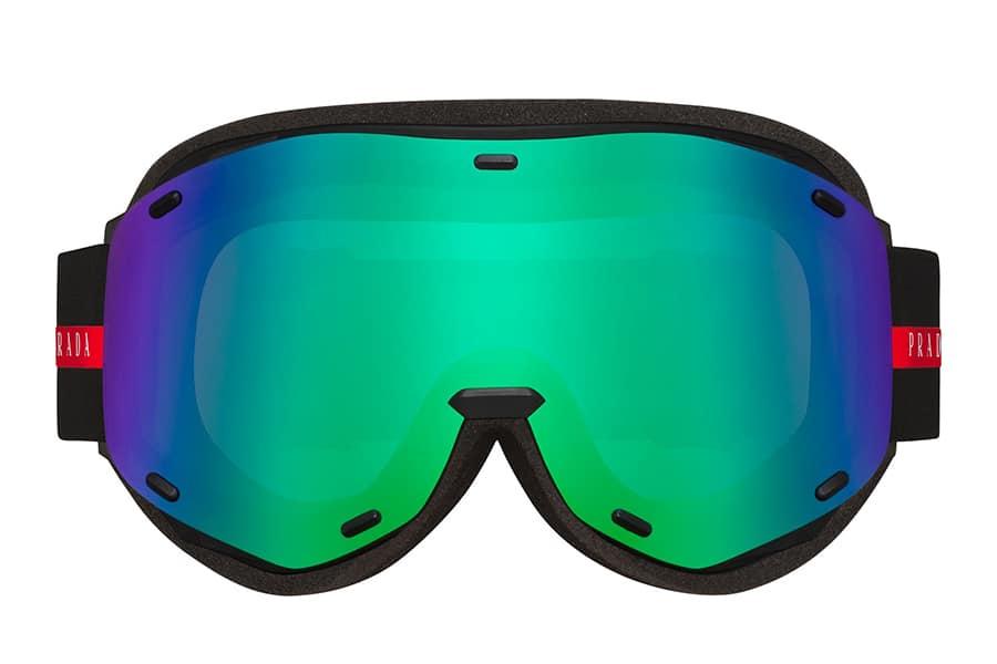 prada ski goggles front side