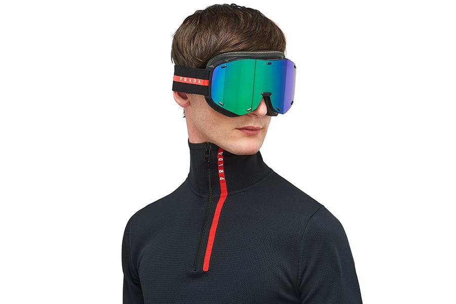 man wear prada goggles