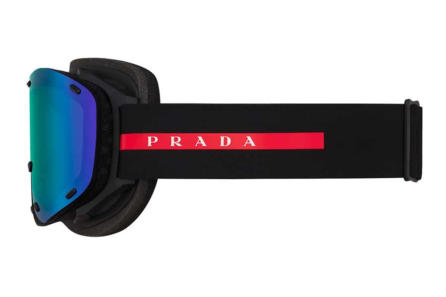 prada rossa ski goggle