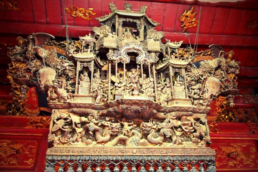 vietnam wood carving