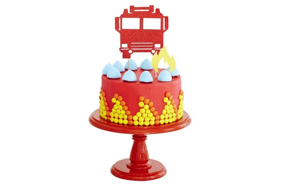 bake fire engine birthday cake