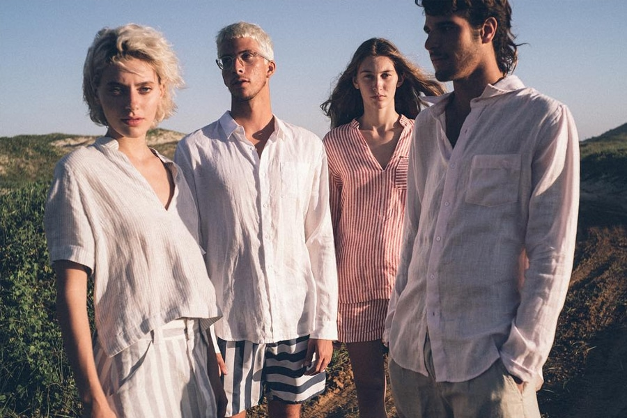 Models in Osklen Linen outfits