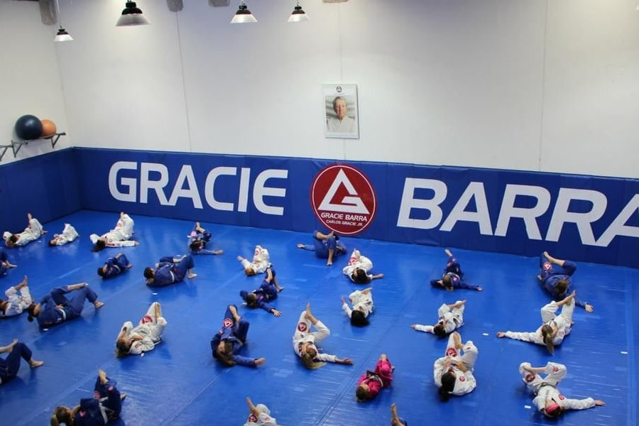 Gracie Barra studio floor aerial shot