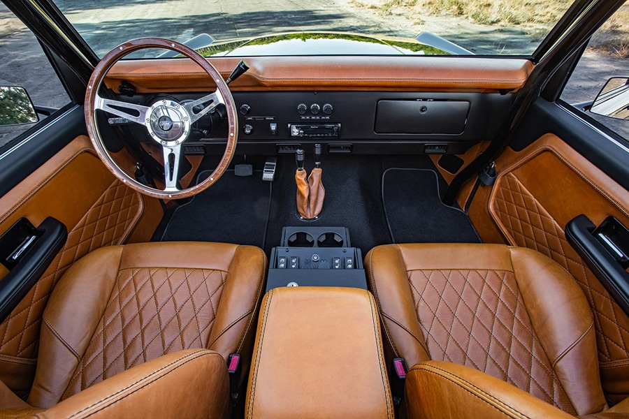 dashboard view ford bronco