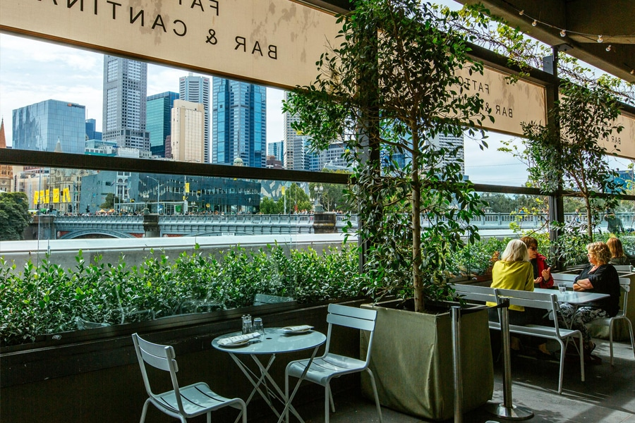 Fatto Bar and Cantina outdoor terrace