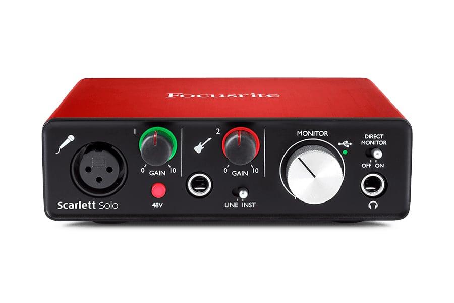 Focusrite scarlett solo audio interface red