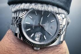 Rolex on a wrist