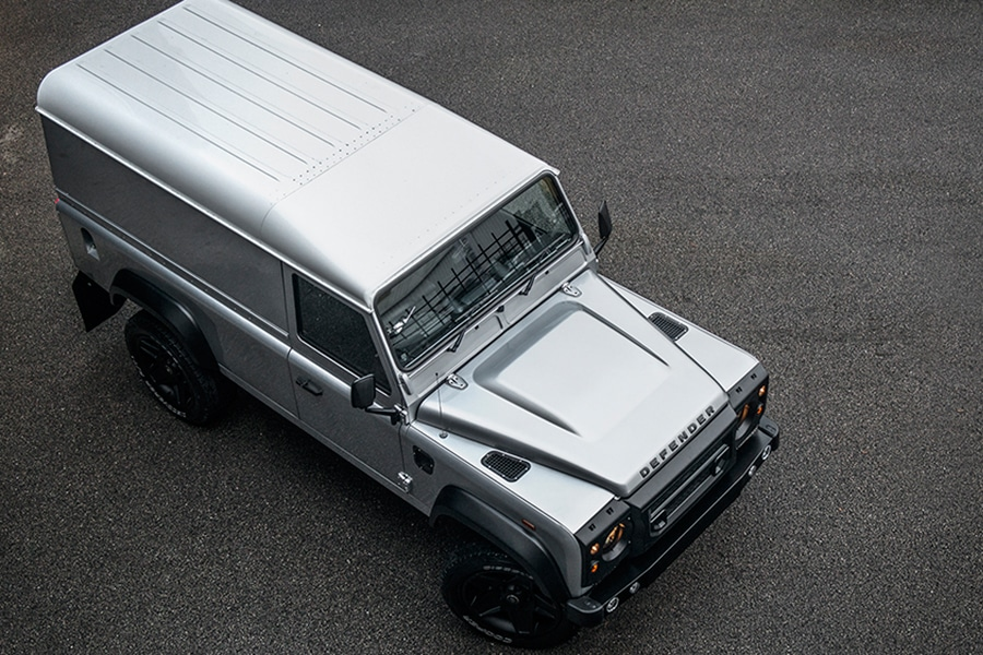 land rover top view