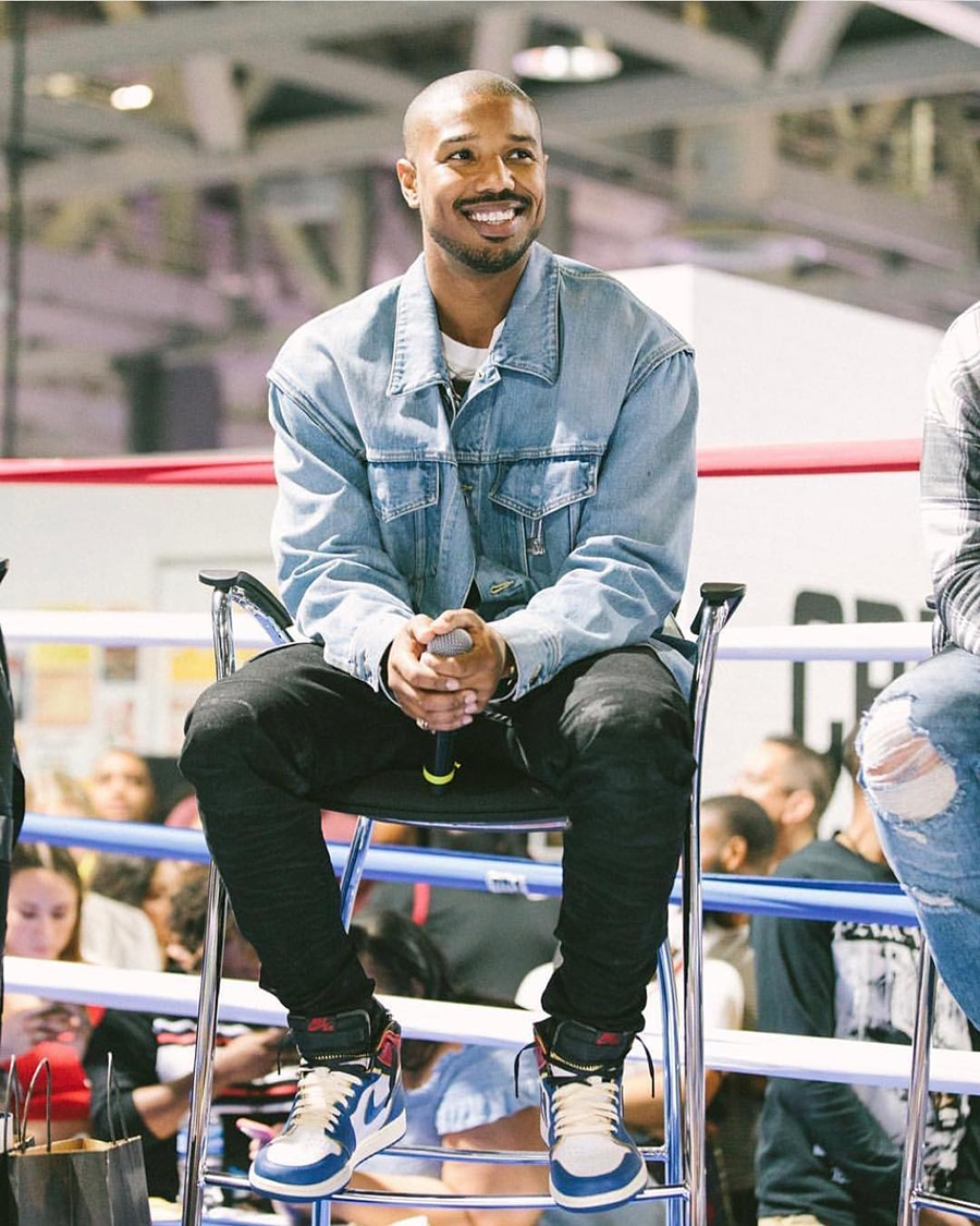 Michael B Jordan in Denim Jacket