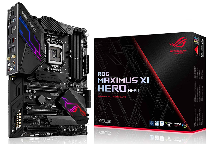 Ninja Fortnite Setup ASUS ROG Maximus XI Hero (Wi-Fi) Z390 Gaming Motherboard