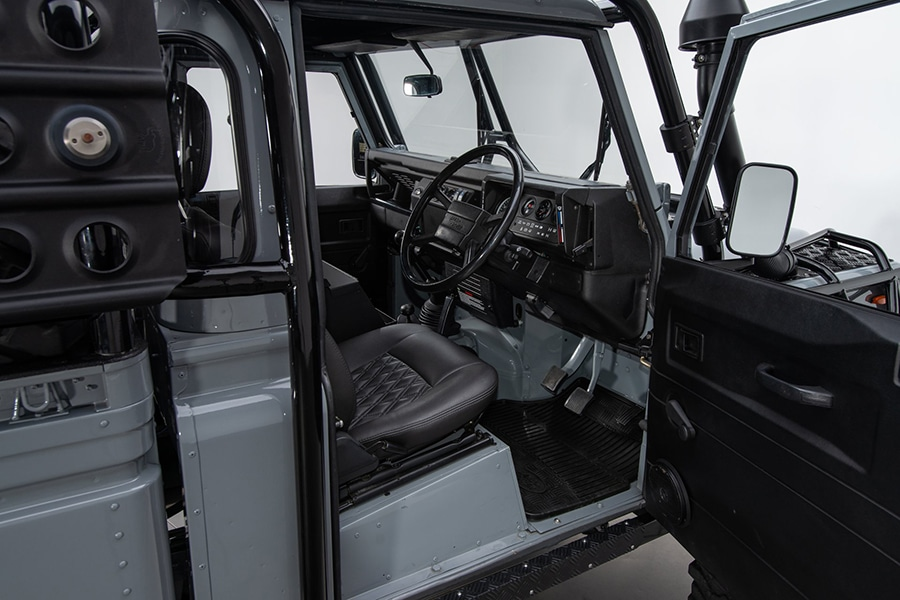 inside view front Land Rover Defender