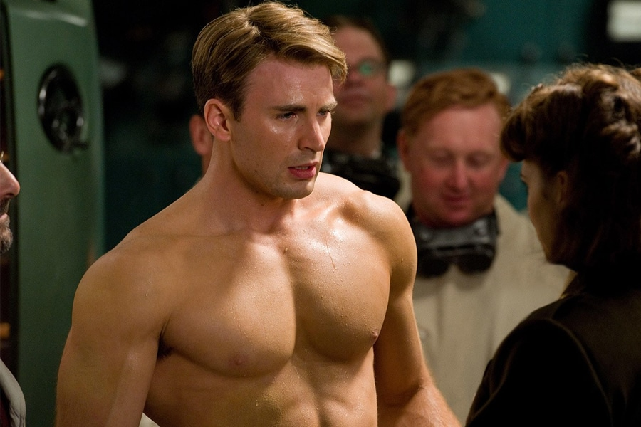 Chris Evans chest muscles