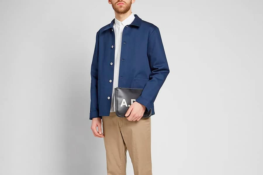 A.P.C. Kerlouan Bedford Bedford Canvas Work Jacket in Navy