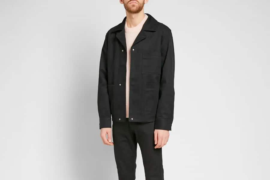 Acne Studios Omar Twill Jacket in Black