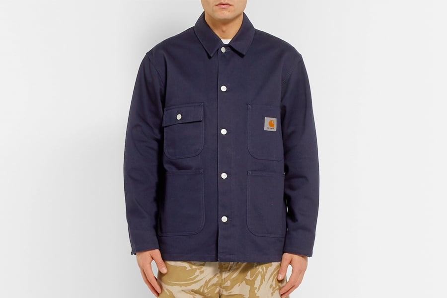 Carhartt WIP OG Classic Chore Cotton-Canvas Jacket in Navy