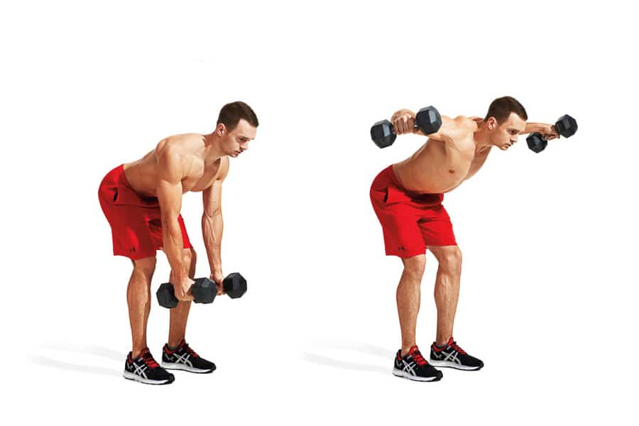 Bent-over dumbbell lateral raise