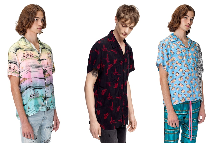 Models in Amiri Hawaiian Shirts