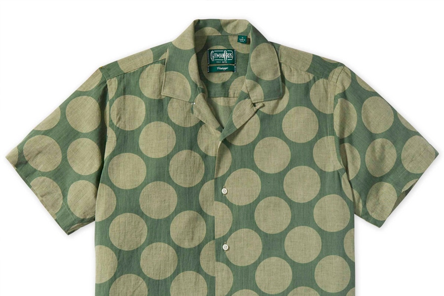 Gitman Vintage shirt in Green