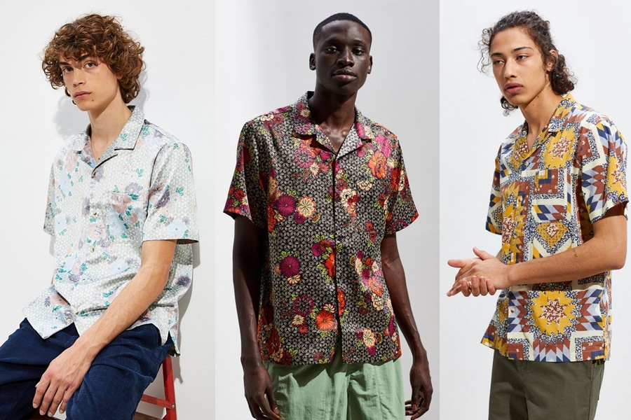 Male Models in Urban Outfitters Hawaiian Shirts