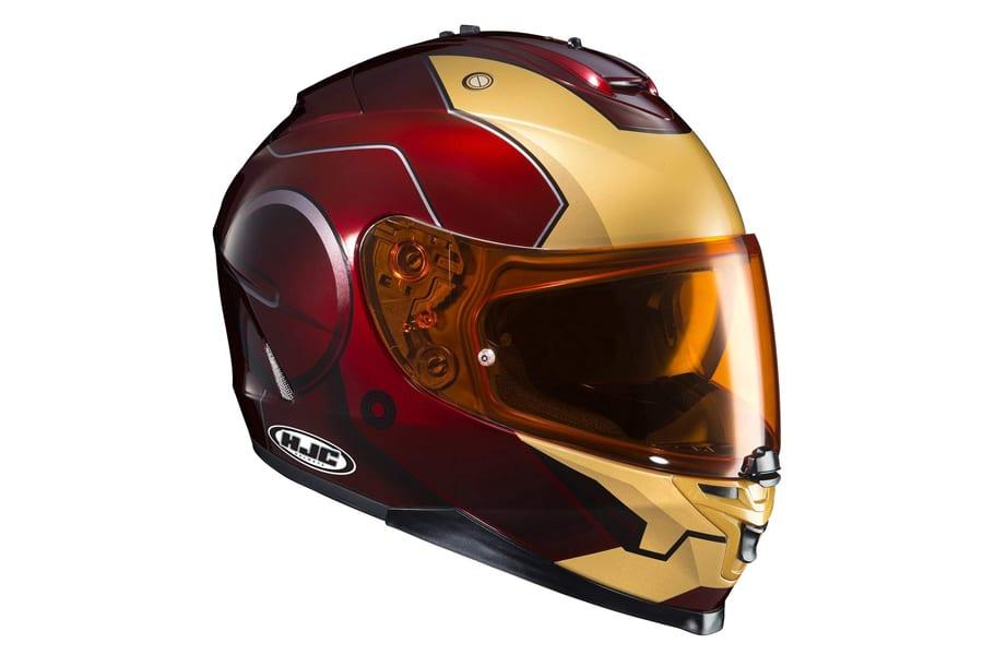 HJC Helmets Marvel IS-17 Unisex-Adult Full Face Ironman Street Motorcycle Helmet