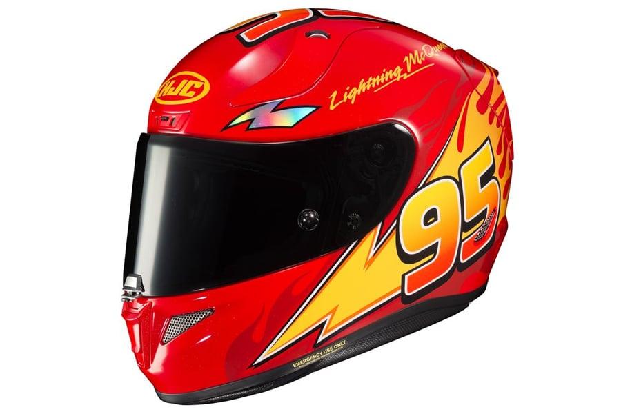 HJC RPHA 11 Pro Lightning McQueen Motorcycle Helmet