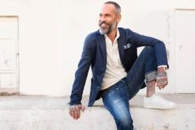 Man in Denim Jeans with Blazer