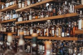Whisky Bottles on shelf