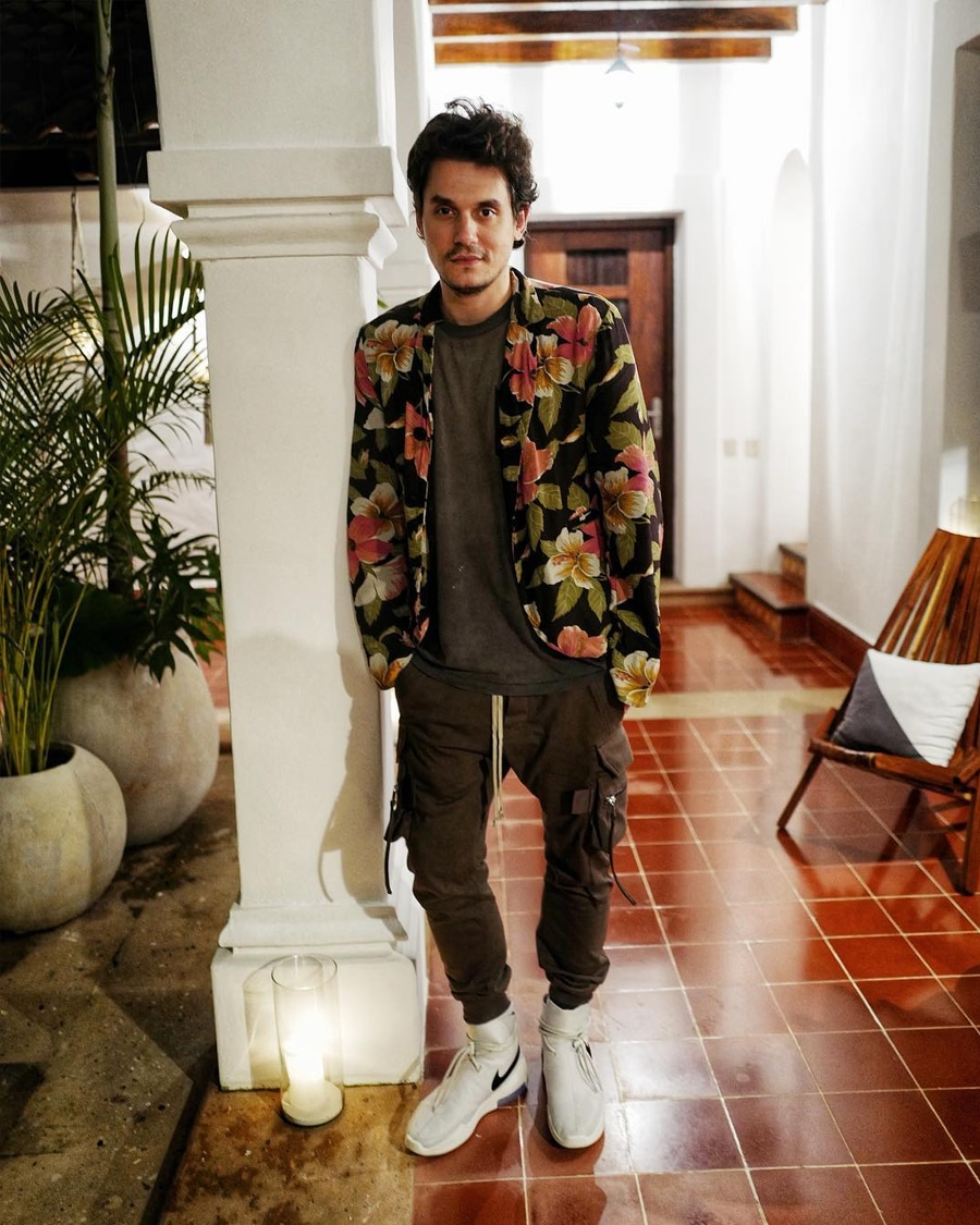 John Mayer in Floral blazer