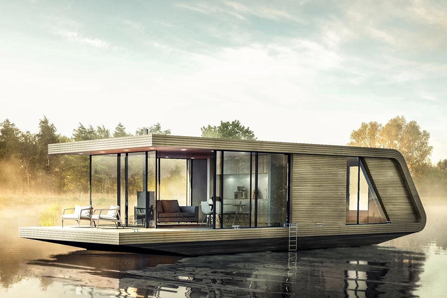 Naturecruiser Houseboat Offers a Solitary Respite