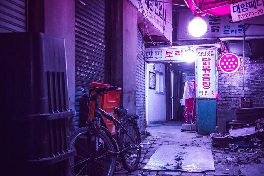 corner street seoul