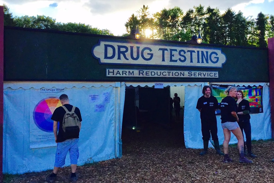 Drug Testing Tent and music festival