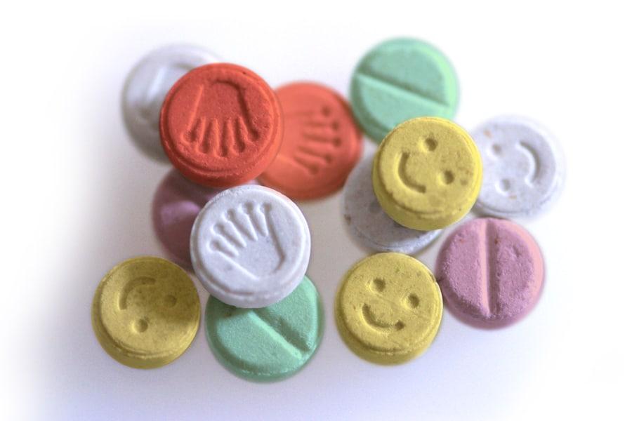 Round Ecstacy Pills