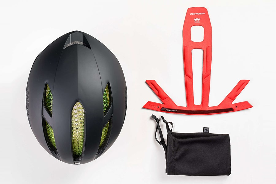 bike helmet with accessories