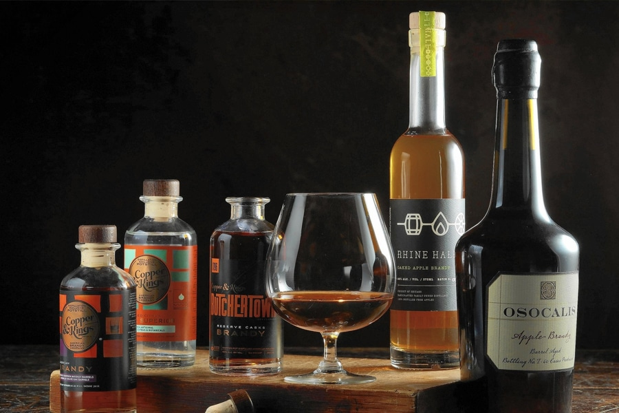 assorted brands of american brandy