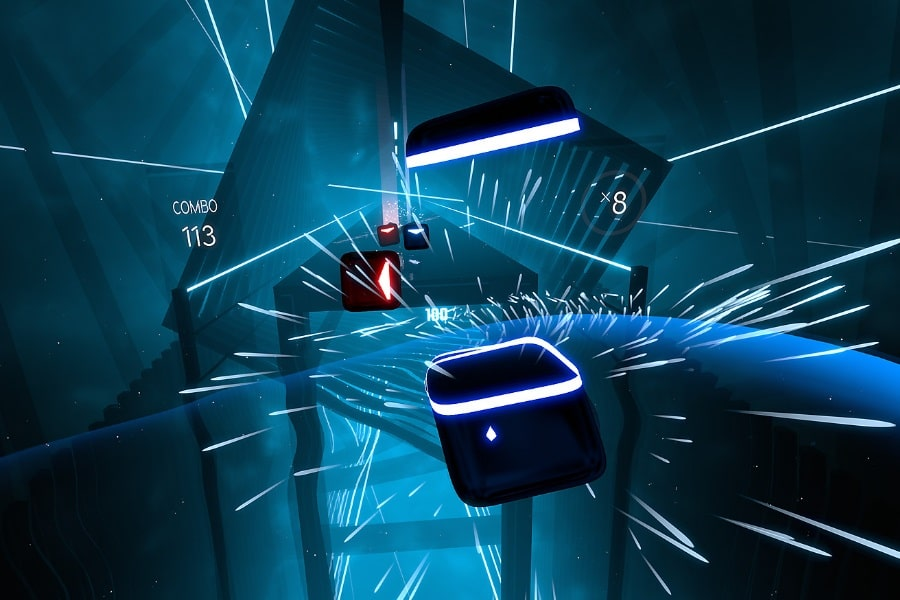 rythym virtual reality game