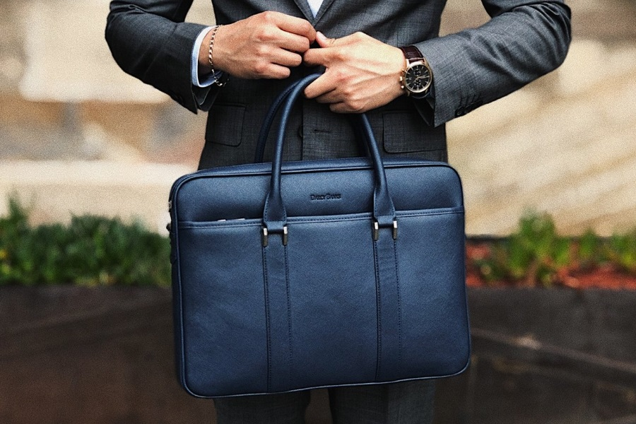 australian made leather briefcase