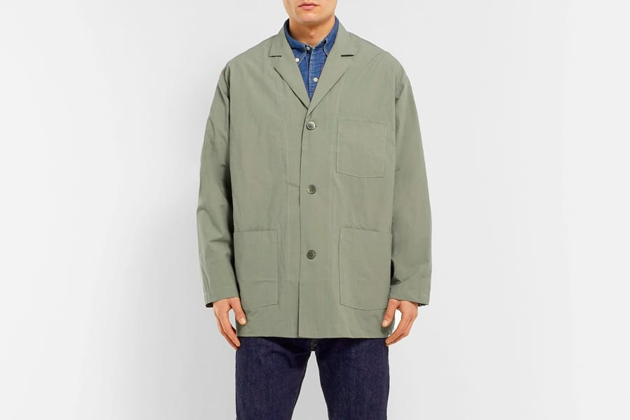 Orslow Oversized Cotton canvas shirt jacket