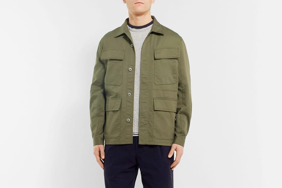 Universal works cotton twill shirt jacket