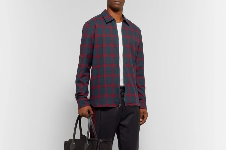 checked cotton Flannel