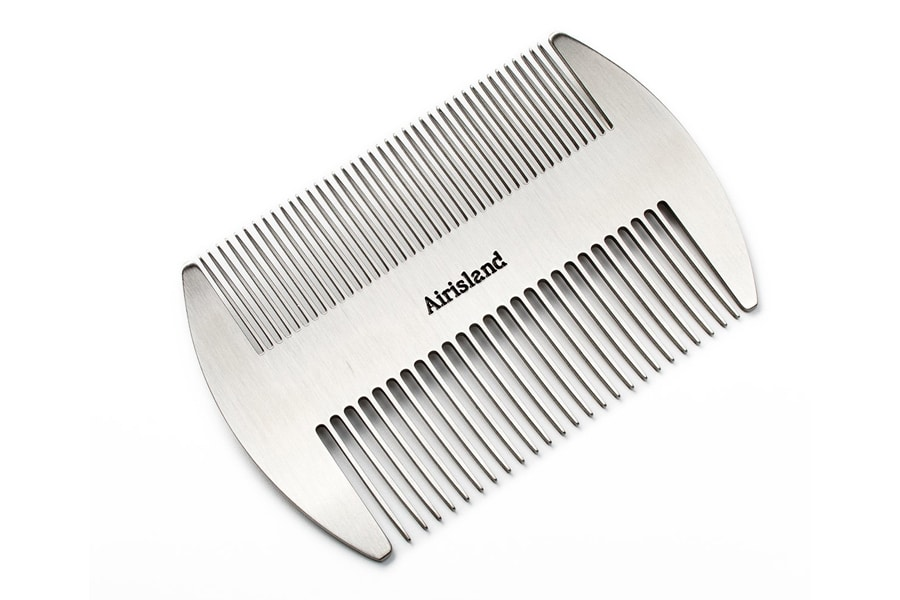 Airisland Dual Action Stainless Steel EDC Credit Card Size Comb Wallet Comb Pocket Comb