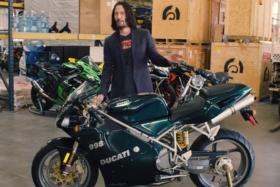 Keanu Reeves Shows Off His Favorite Motorcycles