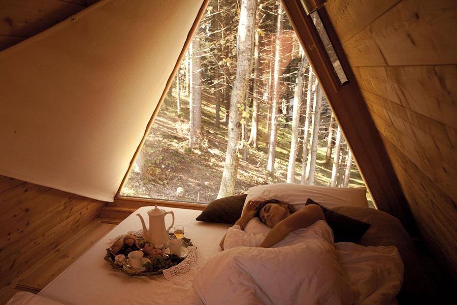 bedroom view cabin