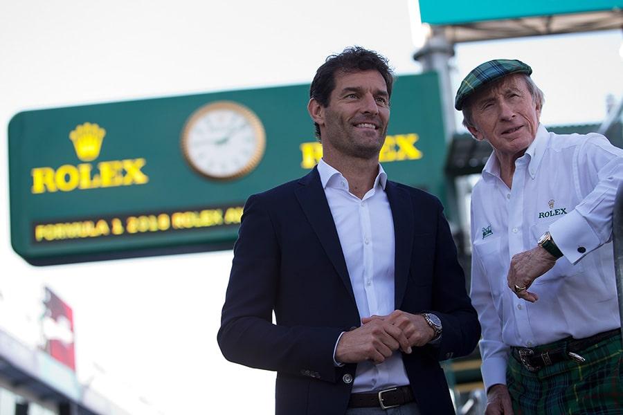 Mark Webber Rolex time keeper