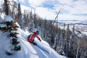 Skier onSteamboat Mountain
