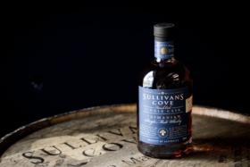 Bottle of Sullivans Cove whisky