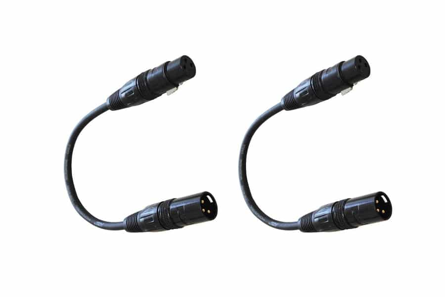 Audio 2000s E02101P2 XLR Male to Female 1 Feet Microphone Cable