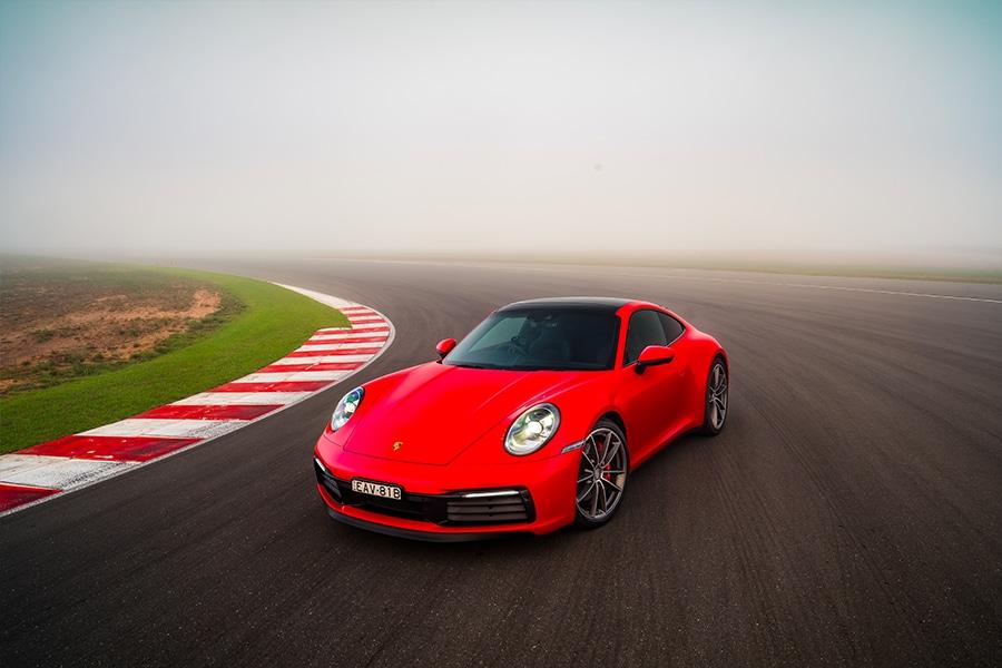 Porsche 911 roadster on track