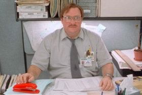 have you seen my stapler office space scene