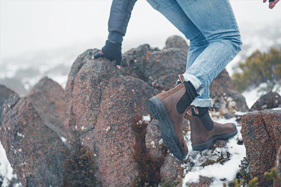 Blundstone boots worn in snow